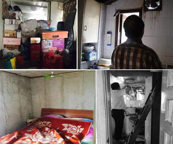 Căn hộ quá chật chội và xuống cấp, mọi trang thiết bị đều tồi tàn, cuộc sống của cả gia đình gần chục người gói gọn trong căn hộ nhỏ bé.
