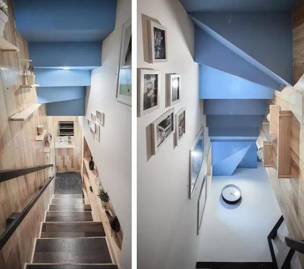 Cầu thang lên nhà được thay đổi hoàn toàn, trở nên sang trọng và sáng sủa hơn rất nhiều.