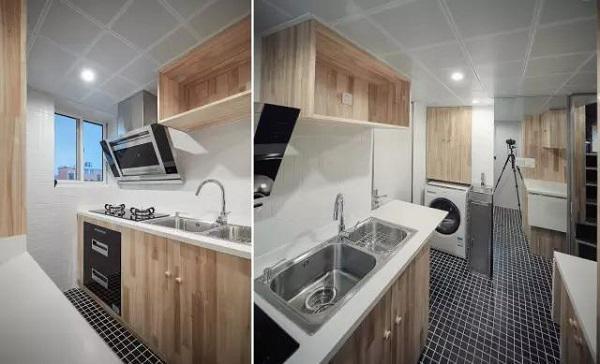 Căn bếp tiện nghi, sạch sẽ, nhiều ánh sáng chứ không tăm tối, chật chội như trước kia.