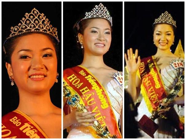 Nhan sắc Hoa hậu Nguyễn Thị Huyền thuở mới đăng quang.